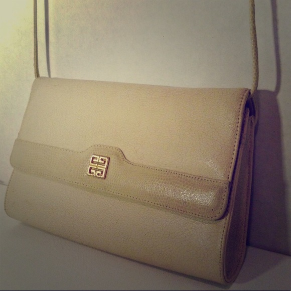 Givenchy Handbags - GIVENCHY - Vintage Cream Leather Bag/Clutch